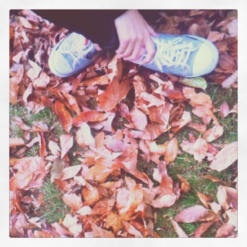 Campo en otoño con pies dayda littledayda