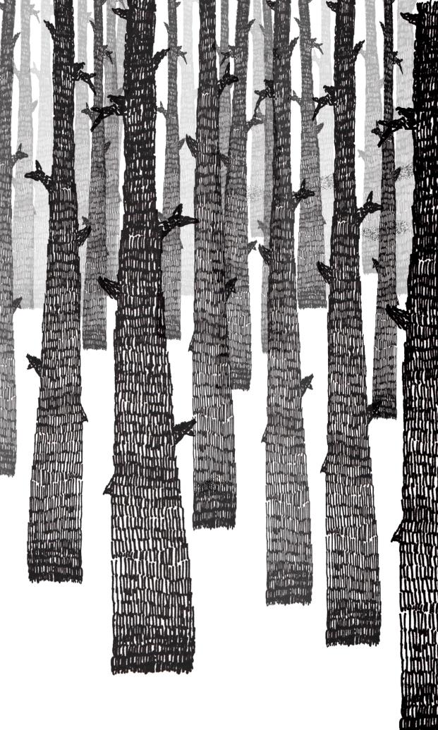 Perspectiva aérea. Ejercicio #4.  Inspiración Frida Stenmark. Tonalidad. Stabilo. Perspectiv. Paisaje, naturaleza