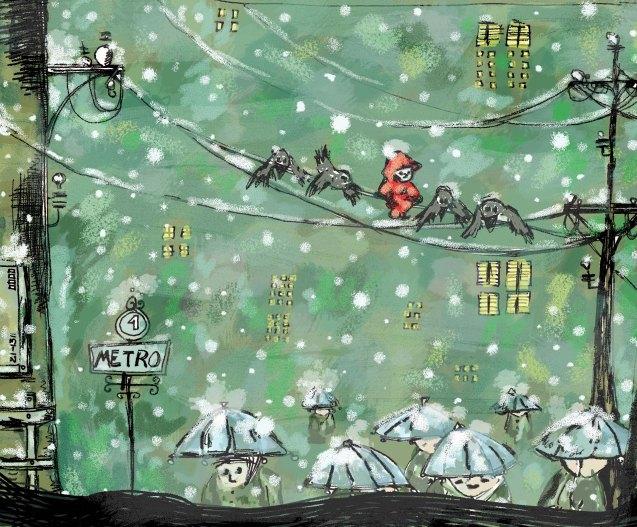 Ilustración nieve