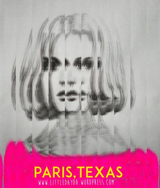 Ilustración de Jane en Paris, Texas (Wim Wenders).